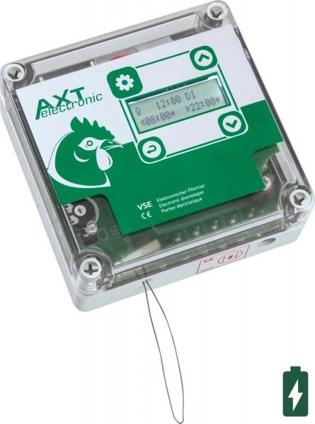Automatische Hühnerklappe - Elektronischer Pförtner VSE mit Batterien, integrierter Zeitschaltuhr und manueller Steuerung