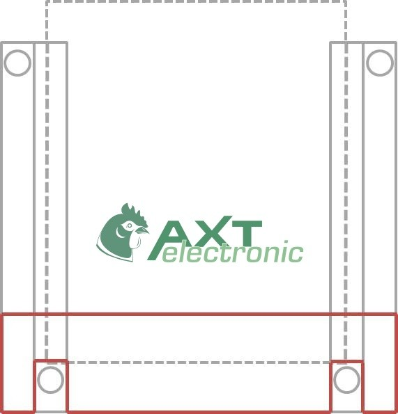 Protective rail (Accessory for AXT poultry house slider)